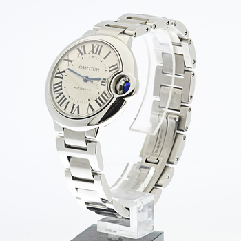 Ballon Bleu De Cartier Automatic Stainless Steel 33MM Ladies Swiss Made Watch