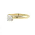 Estate Vintage Ladies 14K Yellow Gold Diamond Solitaire Engagement Ring- 0.35CTW