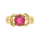Estate Vintage Ladies 14K Yellow Gold Ruby 1.95CTW Right Hand BirthStone Ring