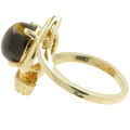 Vintage Estate Retro Ladies 10K Yellow Gold Tigers Eye Cabochon Cocktail Ring
