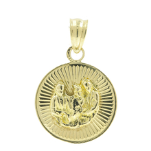 Vintage Classic Estate 14K Yellow Gold Religious Round Pendant - 20MM