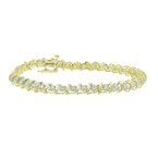 Vintage Classic Estate Ladies 10K Yellow Gold Diamond Tennis Bracelet - 0.78CTW