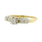 Vintage Estate Ladies 14K Two Tone Gold Diamond Engagement Ring - 0.35CTW