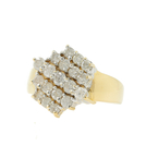 Vintage Classic Estate Ladies 14K Yellow Gold Diamond Ring Band - 1.00CTW