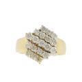 Vintage Classic Estate Ladies 14K Yellow Gold Diamond Ring Band - 1.00CTW