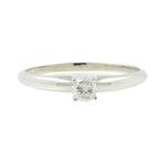 Classic Ladies 14K White Gold Brilliant Cut Diamond Solitaire Engagement Ring