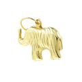 Vintage Estate 14K Yellow Gold High Polished Hollow Elephant Charm Pendant- 20mm