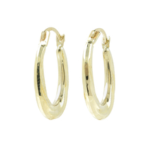 Vintage Classic Estate Ladies 10K White Gold Hoop Earrings - 20MM