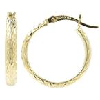 Vintage Classic Estate Ladies 14K Yellow Gold Saddle Back Hoop Earrings