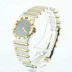 100% Authentic Ladies Omega Constellation 25mm Two Tone 18K Gold & Steel Quartz Watch