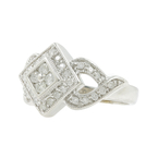Vintage Classic Estate 14K White Gold Diamond Ring - 0.55CTW