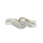 Estate Classic Vintage 14K White Gold Diamond Wedding Ring 2PC Set - 0.30CTW