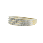 Vintage Classic Estate 10K Yellow Gold Diamond Ring Band - 0.33CTW