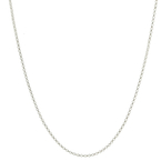 Vintage Classic Estate 14K White Gold Rolo Link Necklace Chain - 16 Inch