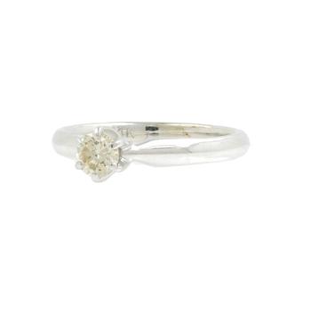 Estate Classic Ladies 14K White Gold Diamond Solitaire Engagement Ring - 0.20CTW