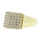 Vintage Estate Ladies 10K Yellow Gold Diamond Cluster Cocktail Ring - 1.08CTW