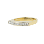 Ladies Vintage Classic Estate 14K Yellow Gold Pave Set Diamond Ring Band 0.22CTW