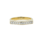 Ladies Classic Vintage Estate 14K Yellow Gold Pave Set Diamond Ring Band 0.22CTW