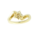 Vintage Classic Estate Ladies 14K Yellow Gold Diamond Bypass Ring - 0.40CTW