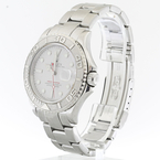 Authentic Mens Rolex Yacht-Master Platinum Bezel Stainless Steel Watch