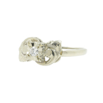 Vintage Classic Estate Ladies 14K White Gold Diamond Ring - 0.07CTW