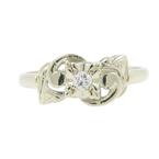 Vintage Classic Estate Ladies 14K White Gold Diamond Ring - 0.07CTW