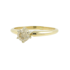 Vintage Estate Ladies 14K Yellow Gold Diamond Solitaire Engagement Ring- 0.33CTW