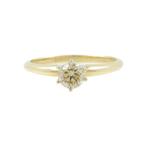 Vintage Estate Ladies 14K Yellow Gold Diamond Solitaire Engagement Ring- 0.33CTW