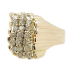 Estate Vintage Women's 14K Yellow Gold Diamond Cluster Cocktail Ring - 0.57CTW