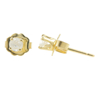 Classic Estate Ladies 14K Yellow Gold Diamond Push Back Stud Earrings - 0.20CTW