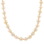 "Estate Ladies Vintage 10K Yellow Gold Cultured Pearl Strand 18"" Necklace Jewelry"