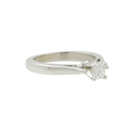Vintage Estate 14K White Gold Princess Cut Diamond Engagement Ring - 0.20CTW