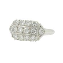 Vintage Classic Estate Ladies PT900 Diamond Ring - 1.40CTW