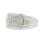 Men's Vintage Classic Estate 10K White Gold Diamond Ring - 0.20CTW - Size 10.75