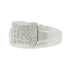 Men's Vintage Classic Estate 10K White Gold Diamond Ring - 0.20CTW - Size 10.75