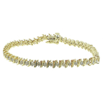 Vintage Classic Estate Ladies 10K Yellow Gold Diamond Tennis Bracelet - 1.25CTW