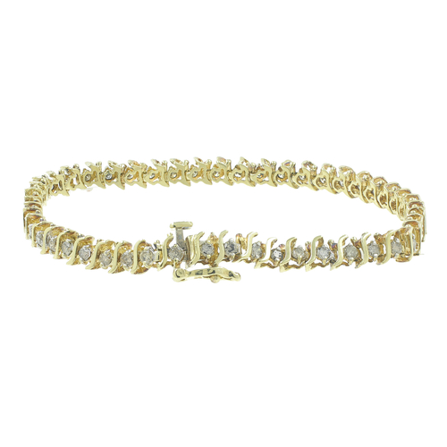 Vintage Clic Estate Las 10k Yellow Gold Diamond Tennis Bracelet 1 25ctw