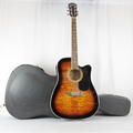 Carlo Robelli 6-String Acoustic Electric Guitar - Model CW4103FCS - Hard Case