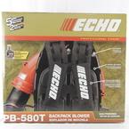 Echo PB-580T Gas Powered Tube Throttle Backpack Leaf Blower 510 cfm 215 mph NEW