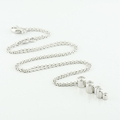 Georg Jensen Cascade Necklace 18Karat White Gold & Diamond Pendant Chain 0.63CTW