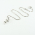Georg Jensen Cascade Necklace 18Karat White Gold & Diamond Pendant Chain 0.63CTW