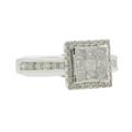 Classic Estate 10K White Gold Princess Cut Diamond 1.04CTW Engagement Ring