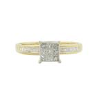 Estate Ladies 14k Yellow Gold Princess Cut Diamond 0.42CTW Engagement Ring