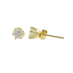 Classic Estate 14K Yellow Gold Diamond 0.40CTW Stud Push Back Earrings