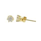 Vintage Estate 14K Yellow Gold Diamond Stud Push Back Earrings - 0.40CTW