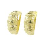 Classic Estate Ladies 18K Yellow Gold Huggie Latch Back Hoop Earrings