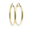 Ladies Vintage Estate 10K Tri-Color Yellow White Rose Gold Hoop Earrings - 55MM