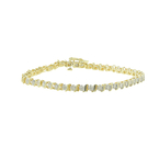 Classic Estate Ladies 10K Yellow Gold Diamond 0.65CTW Tennis Bracelet 7 Inch
