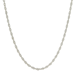 Classic Estate 14K White Gold 16 Inch Spring Ring Clasp Necklace Chain
