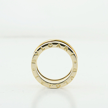 Bvlgari Bulgari 18K Yellow Gold B.Zero Three Band Unisex Ring Size 51 5 3/4 U.S